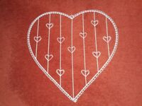 Beautiful Cream Wire Heart Shaped Memo Board VGC - cash on collection from Gosport Hampshire
