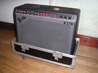 Fender Twin Valve Amp with Flight Case