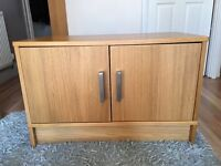 IKEA oak effect Tv Unit/storage Unit