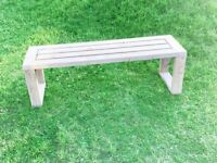 Garden Bench / Backless Bench / Pressure Treated Wooden Bench / Free Delivery Norwich