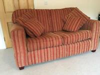 Large 2 Seater Sofa and footstool