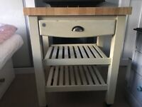 Butchers Trolley - on wheels with 1 x drawer and 2 x shelves