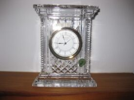 beautiful waterford crystal timepiece.still boxed.