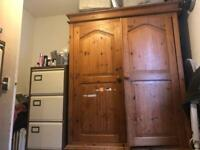 2 door pine large wardrobe