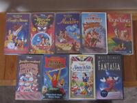 9 Disney Films + 7 Boys Films/Cartoons All VHS
