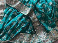 Green wedding saree