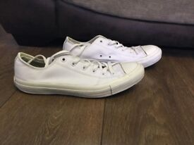 Men's white leather converse size 8