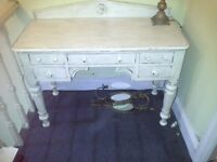 Antique shabby chic dressing table