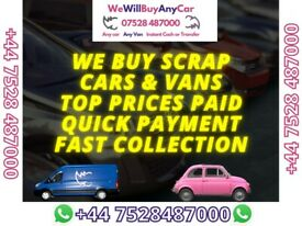 ✅ Sell my car today , cash for VEHICLES, cars & Vans wanted ☎ vauxhall audi bmw fiat renault toyota