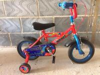 "Rocket bmx boys, girls bike 12"" with stabilizers. Vgc condition."