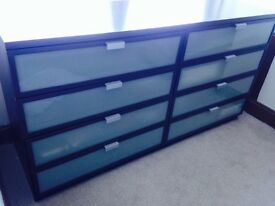 Bedside furniture:Matching Chest of Drawers and 2 X beside drawers