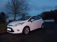FORD FIESTA 1.4 TDCI DIESEL ZETEC WHITE NEW SHAPE 2011 £30 ROAD TAX BARGAIN £3295 *LOOK* PX/DELIVERY