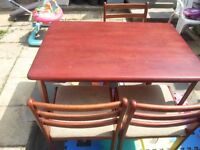 IKEA DINING TABLE AND 3 CHAIRS-Collection from E6 or i can DELIVER FOR PETROL MONEY