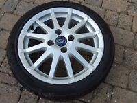 "Ford Fiesta Zetec S 16"" alloy with 195 45 16 tyre"