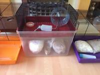 Two story hamster/gerbil/rat cage for sale.