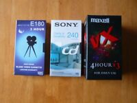 5 Blank Video Tapes (19 hours) brand new all still in wrappers.