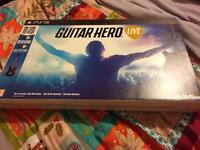 Guitar Hero Live ps3 guitar & game new in box