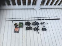 fishing reels and rod for sale job lot. No longer have the time or the desire to go fishing