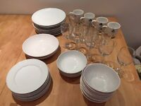 Dinnerware set (plates, bowls, cups and glasses)