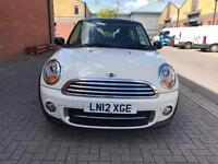 2012 MINI HATCH 1.6 TD Cooper D London12 edition White Full Zero Road Tax Full Service History
