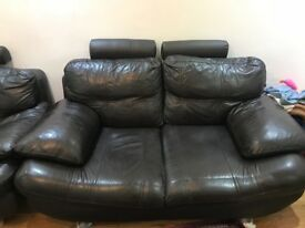 3 & 2 seater Leather sofa Good condition