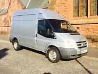Ford transit 115 Bhp 07 Reg high roof no vat long mot great driver