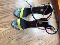 River island strap heels size 4