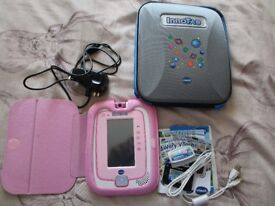 Pink Vtech Innotab 3 Learning tablet for children with special Pink case 1 game, plug adapter