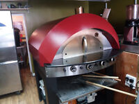 pizza oven gas stone base