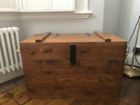 Large Rustic Wooden Storage Trunk/Box