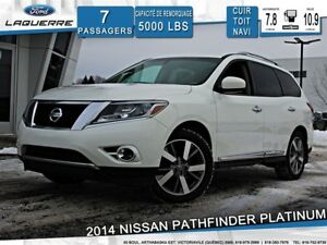 2014 Nissan Pathfinder PLATINUM**7 PLACES*AWD*CUIR*GPS*CAMERA*BL