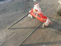 Brand new Tractor three point linkage single bale spike with two folding spikes