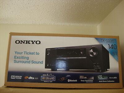 Onkyo - 700W 5.1-Ch. 4K Ultra HD & 3D Bluetooth Home Theater Receiver TX-SR353