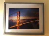 "San Francisco Golden Gate Bridge Framed Picture 12""x16"""