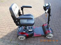 Drive Mercury Prism 4 Travel Mobility Scooter (colour red)