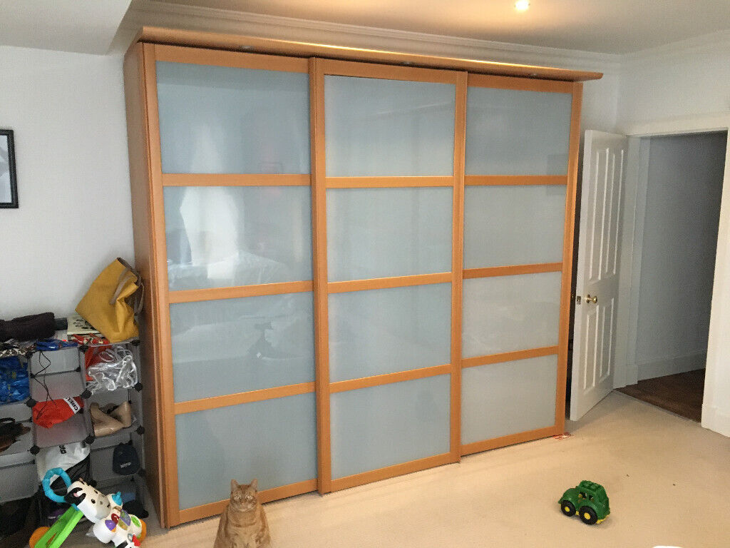 Two Matching Large Wardrobes 225h X 250w 65d Built In