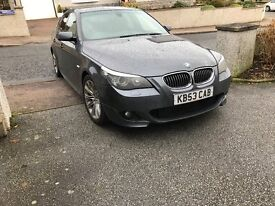2008 BMW 530D M SPORT black leather sat nav 2 owners only multi cd fogs cruise etc etc