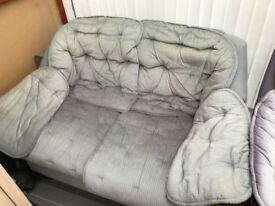 2 seater sofa and reclining chair