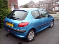 PEUGEOT 206, 2001, FULL SERVICE HISTORY 77,000, CAMBELT CHANGED AT 63,000 IDEAL FIRST CAR, NO RUST