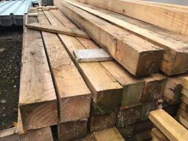 🃏New Wooden Posts * 2.35m X 85mm X 85mm * £6.50
