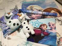Girls Disney Frozen Bedding Set Bundle