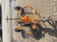 Easy load motorcycle trailer