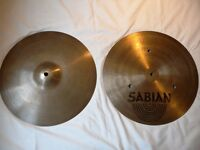 "SABIAN 14"" FLAT HI HAT CYMBALS FOR DRUM KIT (£80)"
