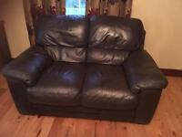 3,2,1 brown leather suite