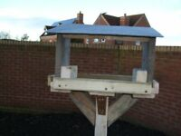 bird tables with slate roofs £15 locall delver see pictures lovely chrsistmas present