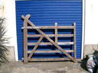 Pair of Oak gates for sale