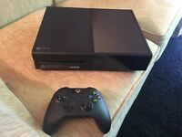 xbox one black mat 500gb like new