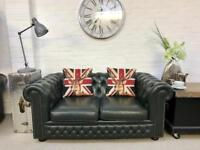 Lincoln green 2 seater Chesterfield sofa. Can deliver