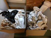 2 boxes of packing paper