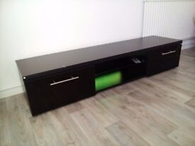 TV Unit with LED's Black with High Gloss fronts Brand new but DAMAGED TOP